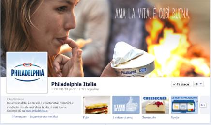 Philadelphia senza lattosio: creato su Facebook, comunicato in TV.