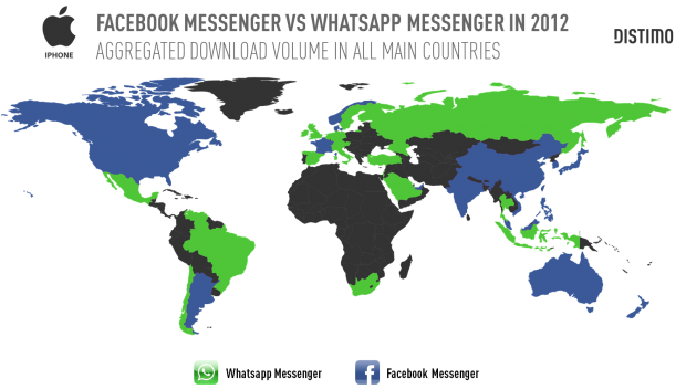 facebook-messenger-vs-whatsapp-messenger-per-country