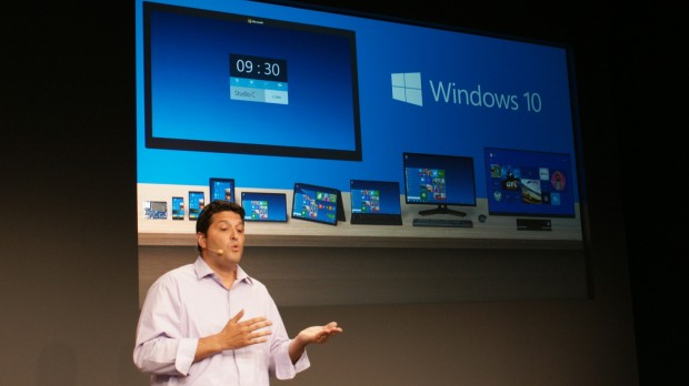 "Terry Myerson, Executive Vice President of Operating System di Microsoft, presenta Microsoft 10 a San Francisco: ""Windows è a una svolta epocale ed è tempo per un nuovo Windows,"" dichiara Myerson. ""Non sarebbe stato corretto chiamarlo Windows 9."""