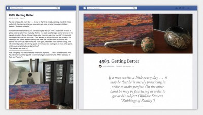 Nuovo layout per Note Facebook